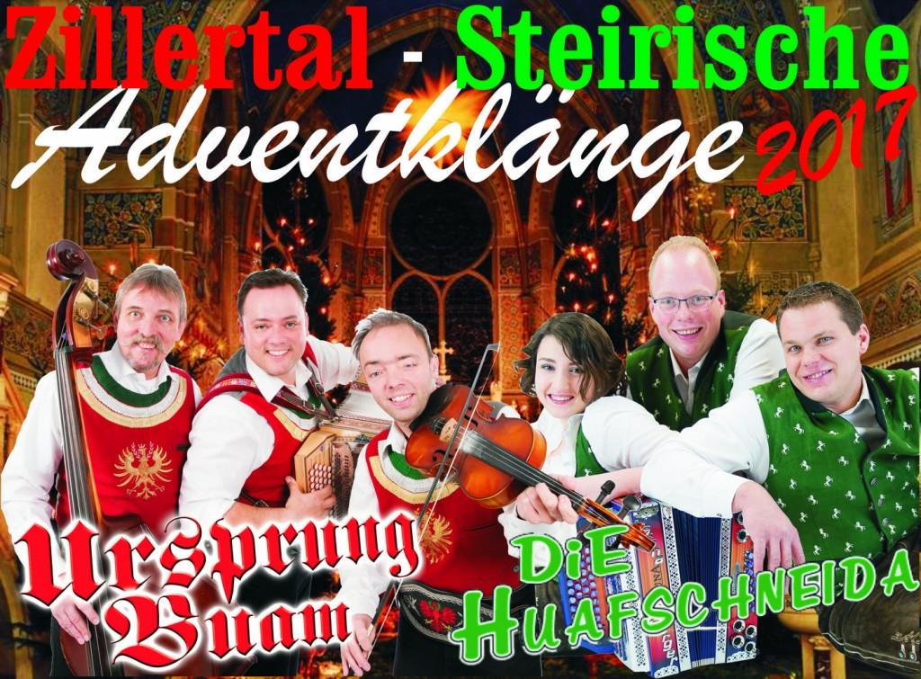 Zillertal-Steirische Adventklänge mit Ursprung Buam & Die Huafschneida